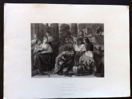 After Padovanino C1860 Art Journal Print. The Musicians - Marriage at Cana